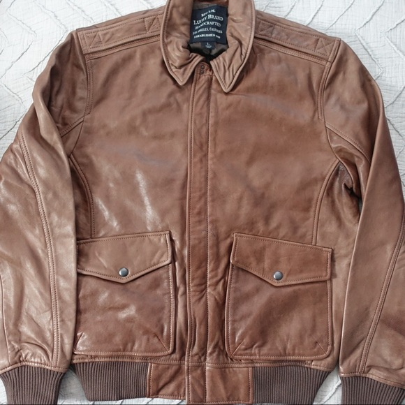 7f9e40e75 Lucky Brand Northridge Leather Bomber Jacket